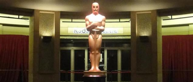 Giant Oscar statue, taken inside the Kodak Theatre