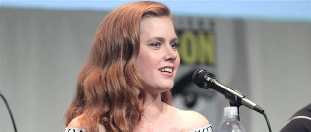 Amy Adams speaking at the 2015 San Diego Comic Con International.