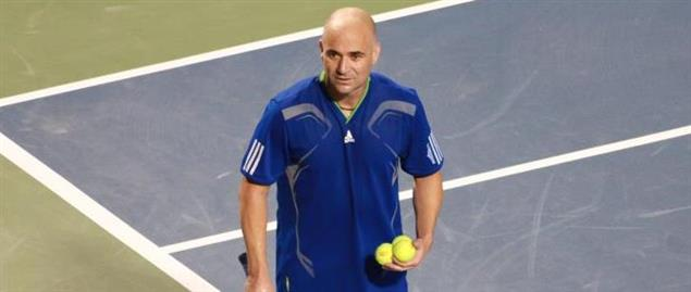 Andre Agassi at the Rogers Cup 2011 Legends.
