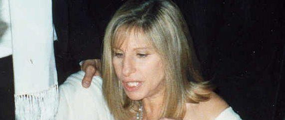 Barbra Streisand at Governors' Ball following 1995 Emmys