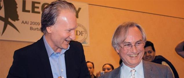 Bill Maher and Richard Dawkins at the Atheist Alliance International conference.