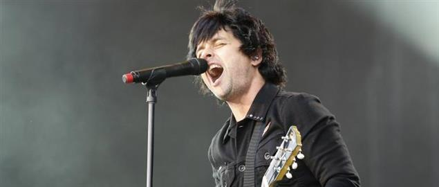 GreenDay's lead singer Billie Joe Armstrong performing at Rock im Park-Festival, 6/8/2013.
