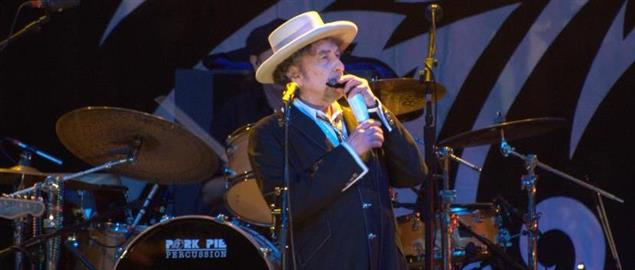 Bob Dylan performing at Finsbury Park, London, June, 18, 2011