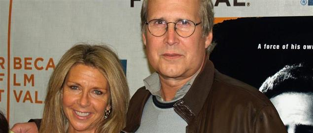 Chevy Chase and his wife Jayni, 4/26/07.