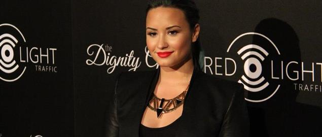 Demi Lovato (The X Factor) at Redlight Traffic's inaugural Dignity Gala, 10/9/13.