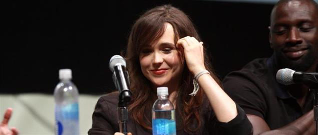 Ellen Page speaking at the 2013 San Diego Comic Con International