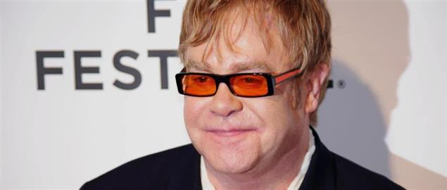 Elton John attending the premiere of The Union at the Tribeca Film Festival