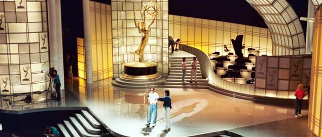 Rehearsal practice before the Primetime Emmy Awards