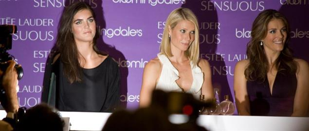 Estee Lauder spokesmodels at the launch of new fragrance, Sensuous