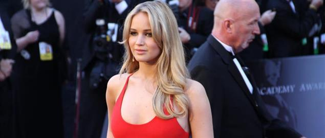 Jennifer Lawrence on the red carpet at the 83rd Academy Awards