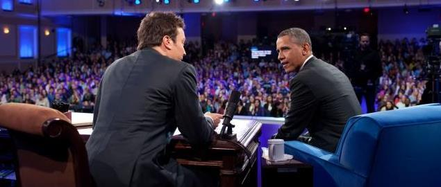 Jimmy Fallon interviewing President Obama
