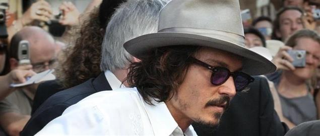 Johnny Depp at the Pirates of the Caribbean: Dead Man's Chest London premiere