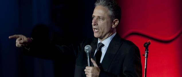 Jon Stewart performs at the Stand Up for Heroes dinner in Washington D.C.