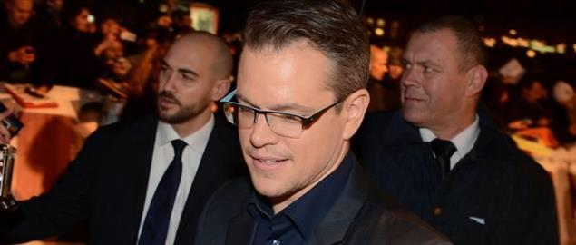 Matt Damon at the premiere of The Monuments Men