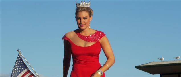Miss America 2013 Mallory Hagan in the Show Us Your Shoes Parade on the Boardwalk in Atla