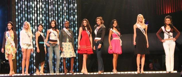 2007 Miss Universe Contestants in Mexico City