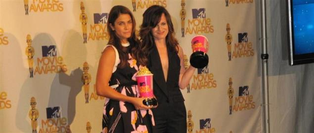 Nikki Reed and Elizabeth Reaser, star of Twilight Saga: New Moon at MTV Movie Awards