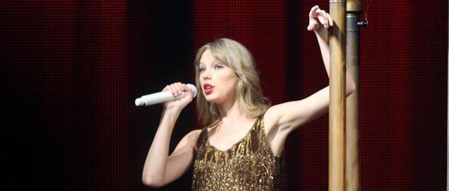 Taylor Swift performing in Australia