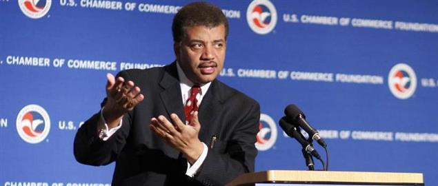 Neil deGrasse Tyson speaking to the Business Horizon Retreat attendees, 3/18/2013.
