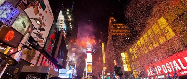 New Years Eve in Times Square, New York City.