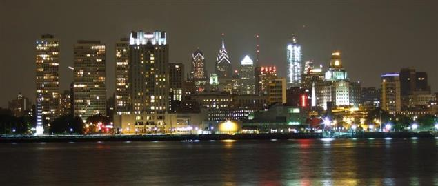 Philadelphia, Pennsylvania, USA, from Camden, New Jersey.