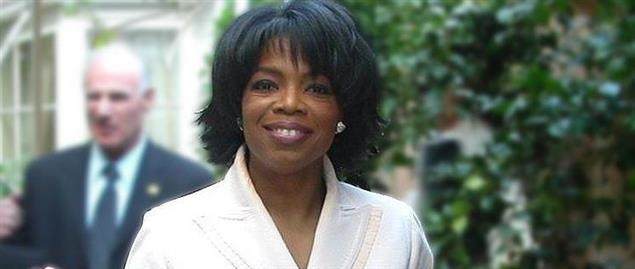 Oprah Winfrey at the Hotel Bel Air in Los Angeles during one her 50th birthday celebration
