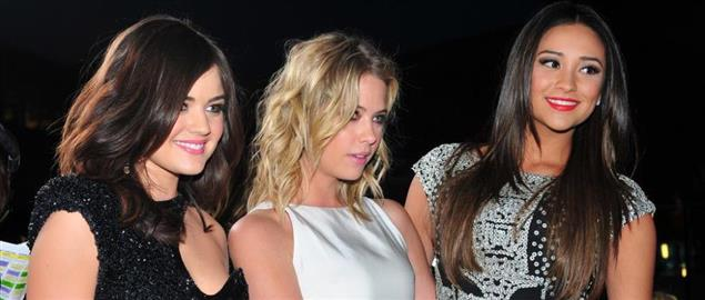 Lucy Hale & Ashley Benson & Shay Mitchell at the 38th People's Choice Awards.