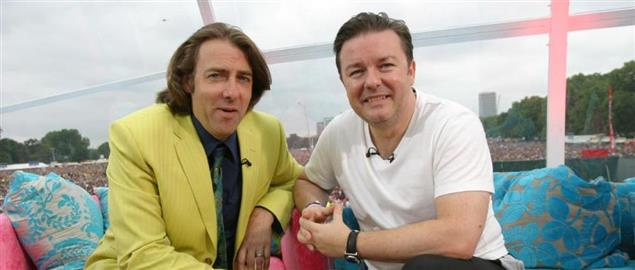 Jonathan Ross and Ricky Gervais