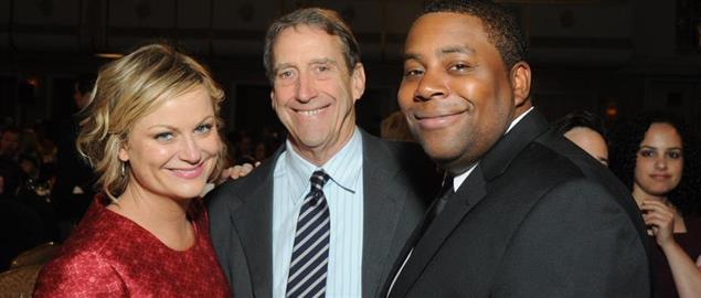 SNL cast member Kenan Thompson and guest star Amy Poehler at the '12 Peabody Awards.