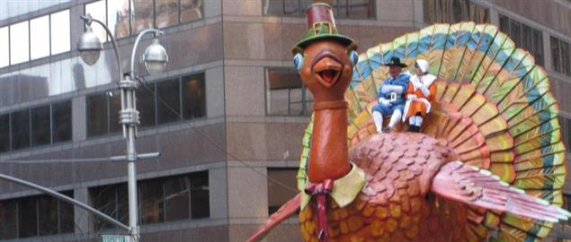 The famous Macy's Turkey at Macy's Thanksgiving Day Parade, New York 2008.